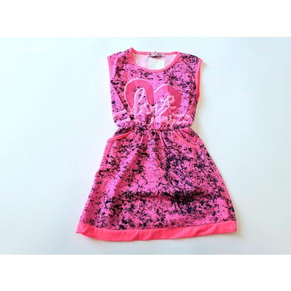 Pink színű,pamut nyári ruha