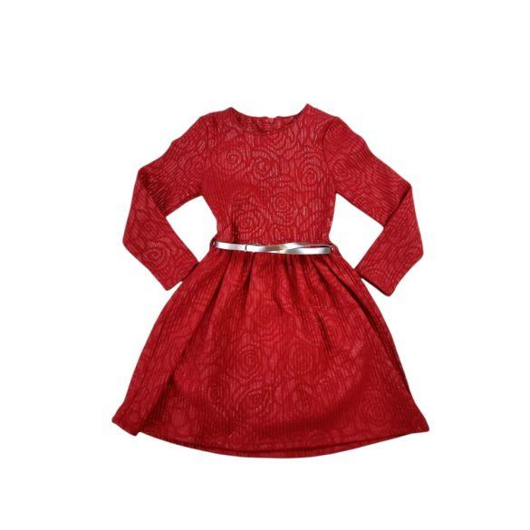 Nyomott mintás alkalmi ruha övvel Új termék