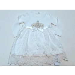Koronás fehér alkalmi ruha
