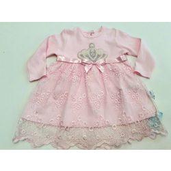 Koronás, csipkés alkalmi ruha, rózsaszín