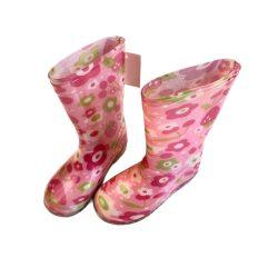 Rózsaszín gyümölcsös gumicsizma