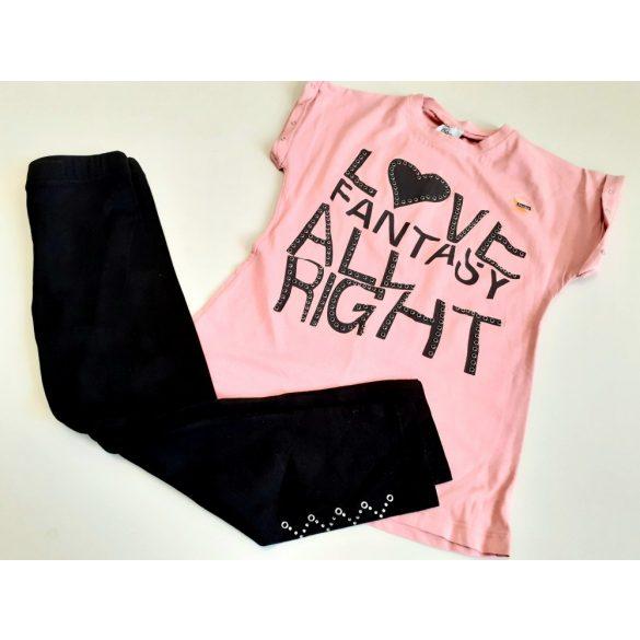 Rózsaszín fekete pamut szett