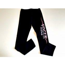 Fekete pamut leggings oldalán felirattal