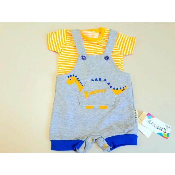 Kék dínós nadrág sárga pólóval