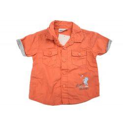 Narancssárga pamut-vászon ing