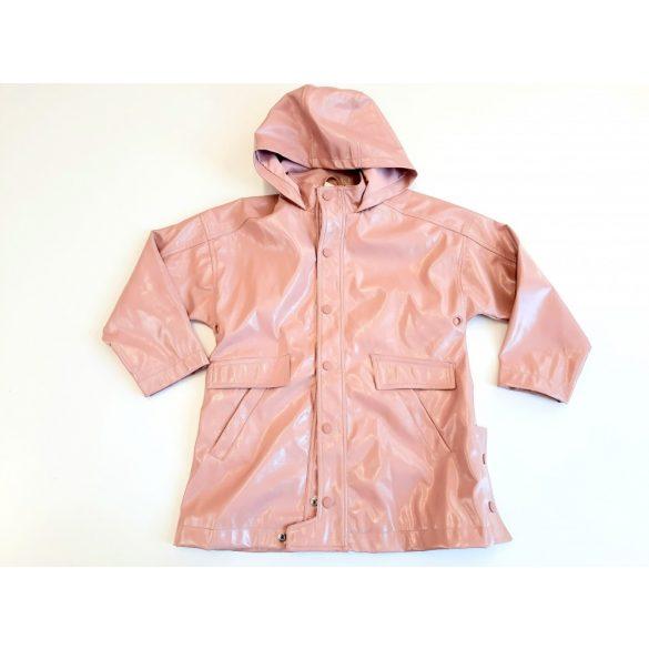 Zara rózsaszín kapucnis műbőr kabát