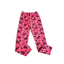 Rózsaszín szivecskes pamut leggings