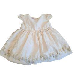 Krémszínű alkalmi ruha, keresztelő ruha