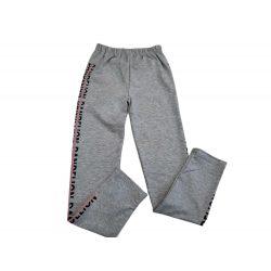 Szürke feliratos pamut leggings