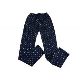 Kék csillagos belül picit bolyhos rugalmas pamut leggings